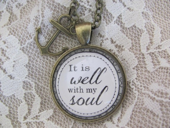 it is well with my soul pendant necklace by redeemedjewelry