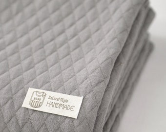 Quilted Knit Fabric Dark Gray