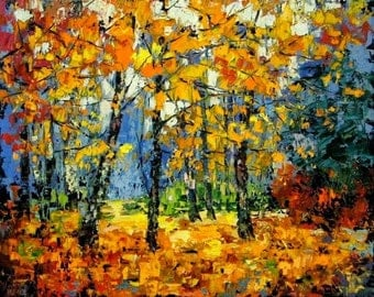 Autumnal Forest - Counted cross stitch pattern in PDF format