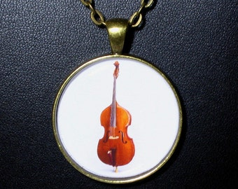 Upright Bass  Necklace / Pendant