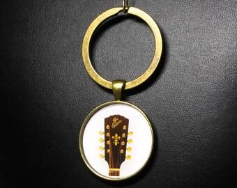 A-4  Mandolin Peghead Key-Chain