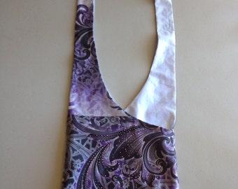 Handmade Upcycled Purple Hobo Shoulder Purse