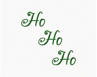 HO HO HO Swirly word machine embroidery design Christmas Xmas