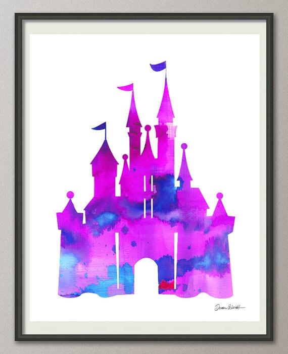 Pink Purple Cinderella Castle
