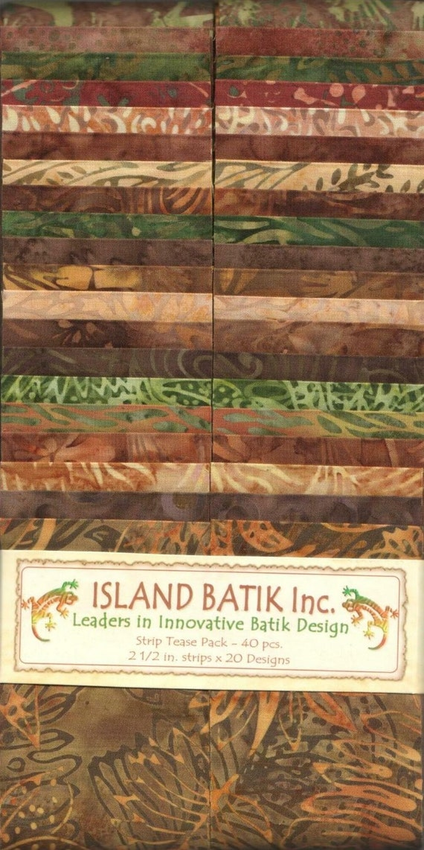 island batik strip tease pack cinnabark batik fabric. Black Bedroom Furniture Sets. Home Design Ideas