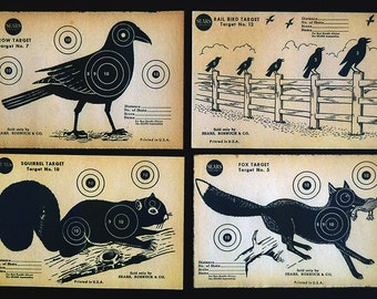 1940s Sears Rifle Targets 8 Different Animals Bang Bang