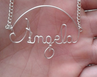 Secured Wire Name Necklace Personalized Simbol Number Real Silver Plated Great Birthday Wedding Shower Bridesmaid Gift High Quality under 10