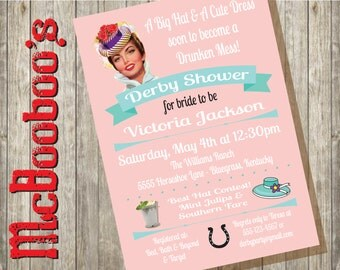 Kentucky Derby Party Bridal Shower Invitation