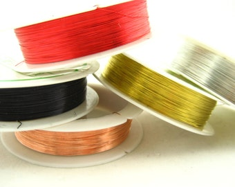 5 rolls of assorted PLATED Beading WIRE jewellery wire DIY wire
