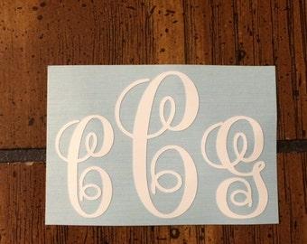 Monogram Initials Decal