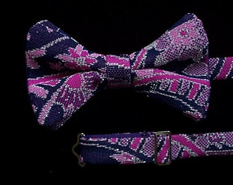 Man's Bow Tie in Sparkly 70's Lurex in purples and pinks