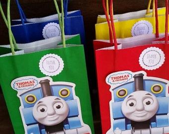 Thomas The Train Party Favor Bags. 12 pieces