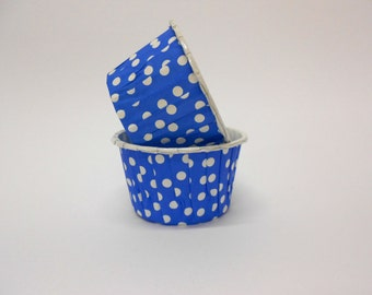 Royal Blue Polka Dot Candy/Nut Cup - Candy, Nut, Cup, Cupcake