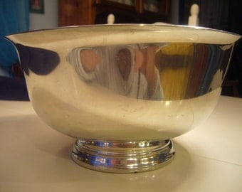 Vintage, Paul Revere reproduction, BOARDMAN COLONIAL, Pewter Footed Bowl.