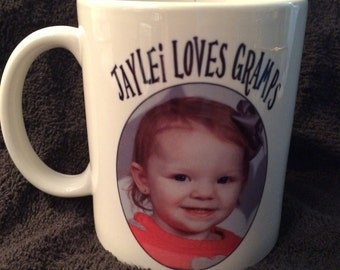 Custom 11 oz Mugs. Anything you want on it. GREAT gift