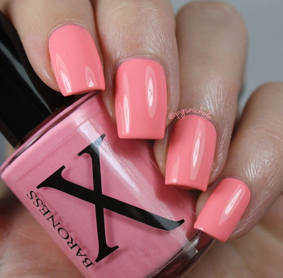 Coral Neon Creme Nail Polish Southland Sunsets By BaronessX