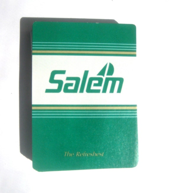 Mid Century Salem Mint Green Wide Gambling Cards Cigarette