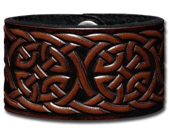 Leather Bracelet 40mm Celtic Knotwork (1)