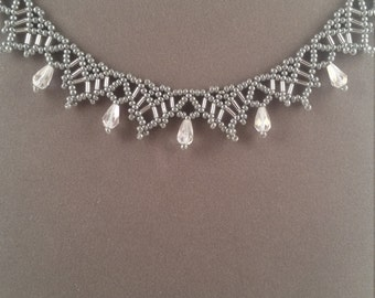 Victorian Silver Beaded Necklace