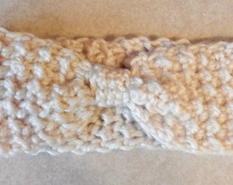 Crochet Bow Style Ear Warmer