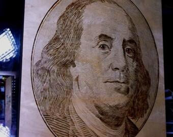Benjamin Franklin Pyrograghy
