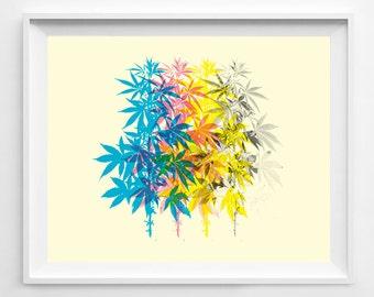 Marijuana - Weed Art - Weed Poster - Pot Leaf - Pot Leaf Poster - Weed Print - Marijuana Art - Marijuana Poster - 420 - Pot Leaf Art
