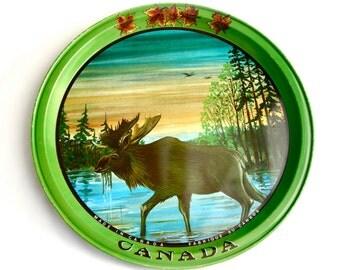Canada ~ Moose Vintage Tin Tray