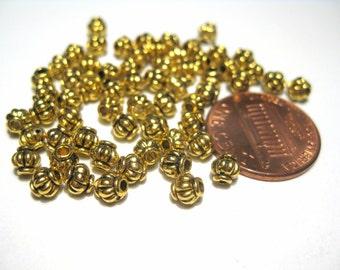 50pcs Antique Gold Lanterns Spacer Bead 4mm