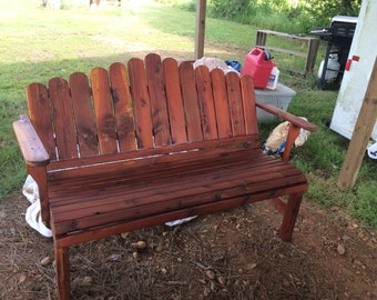 bench, garden bench, cedar bench, cedar garden bench, porch bench, patio bench, outdoor furniture, patio furniture, anniversary gift