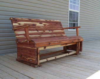 Outdoor glider, glider, patio glider, cedar glider, 5ft. glider, patio furniture