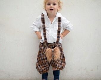Kiltashorts - Fancy Kids Kilt in Terracotta Tartan