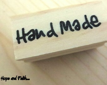 "New 2015 !!! Stamp ""HANDMADE"" wood (4x1.8cm)"