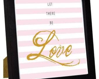 Let There Be Love Square Framed Print