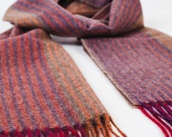wool scarf / wool scarves / baby alpaca wool / striped scarf / striped scarves / striped wool scarf / striped red scarf 'Red mix'