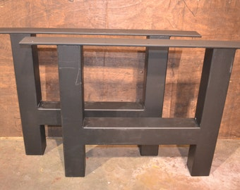 Extra Large Industrial H-Frame Metal Table Legs - Any Size & Color!