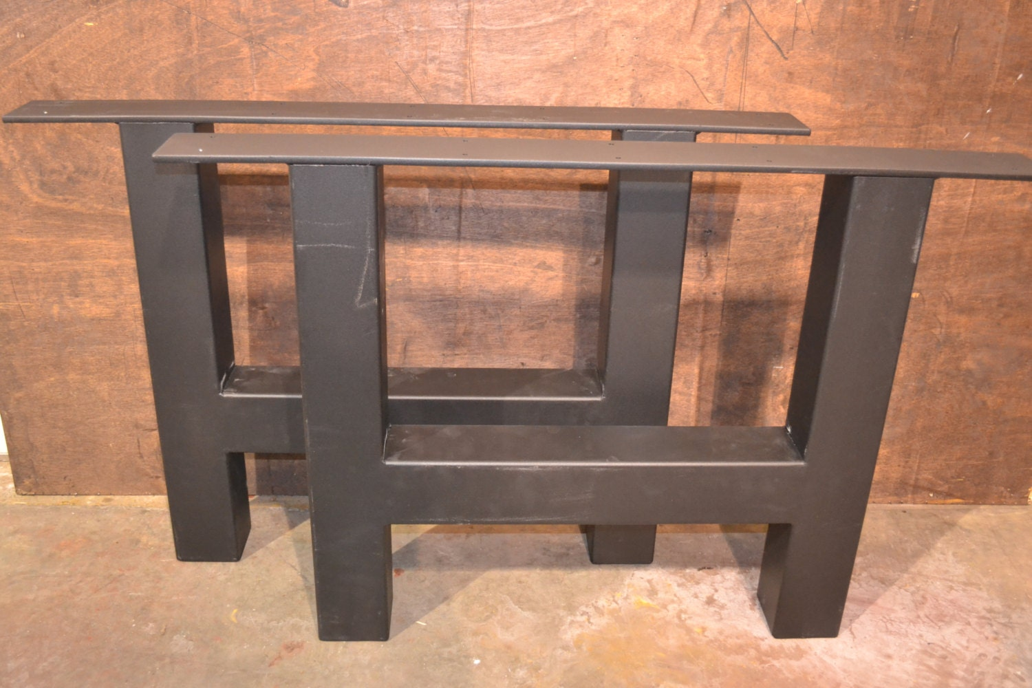 Extra Industrial H Frame Metal Table Legs Any Size
