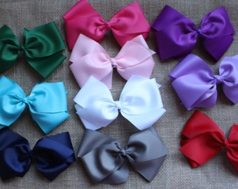 """SALE PRICE: 6"""" grosgrain bows in a variety of colors"""