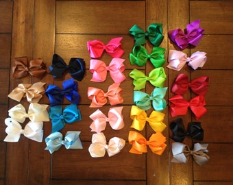 """4"""" grosgrain bows in a variety of colors"""
