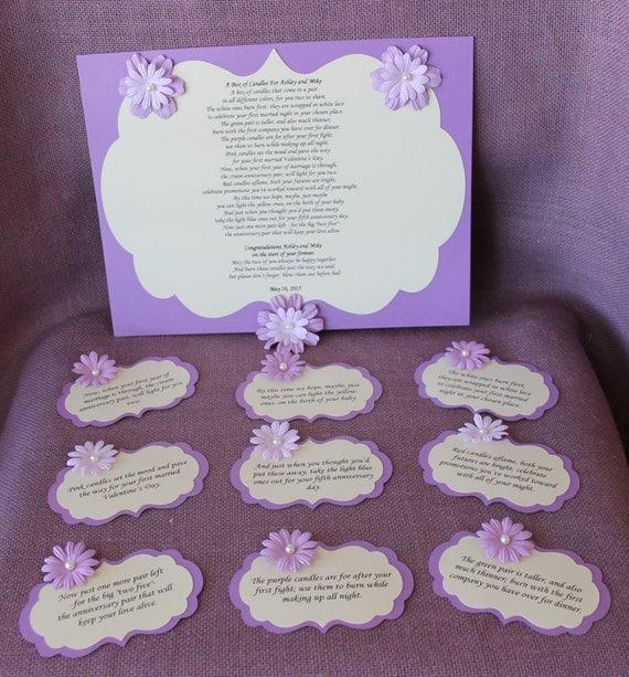 ... candle basket Poem Tags. Sentimental wedding gift. Shower Present