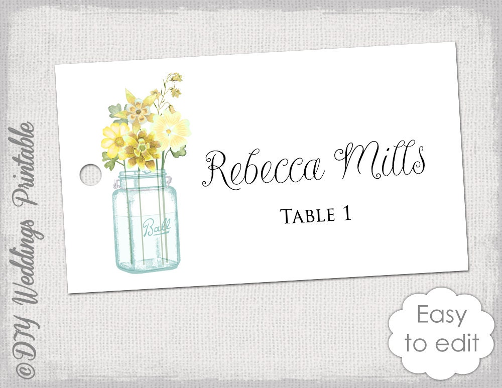 It's just a graphic of Ambitious Printable Place Cards Template