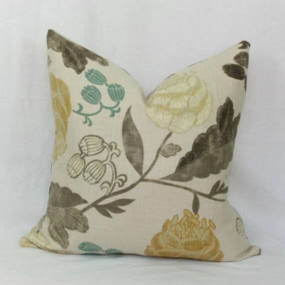 Items similar to Botanical decorative throw pillow cover. 18