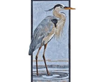 Toni Whitney Design Great Blue Heron Bird Applique Quilt Pattern