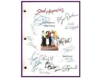 Steel Magnolias Movie Script Autographed Signed: Sally Field, Shirley Maclaine, Daryl Hannah, Julia Roberts, Olympia Dukakis, Tom Skerritt