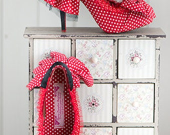 Feeling Dotty, handmade high heeled 50's style shoes