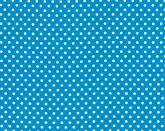 1/2 Yard Moda Dottie Small Dots Turquoise
