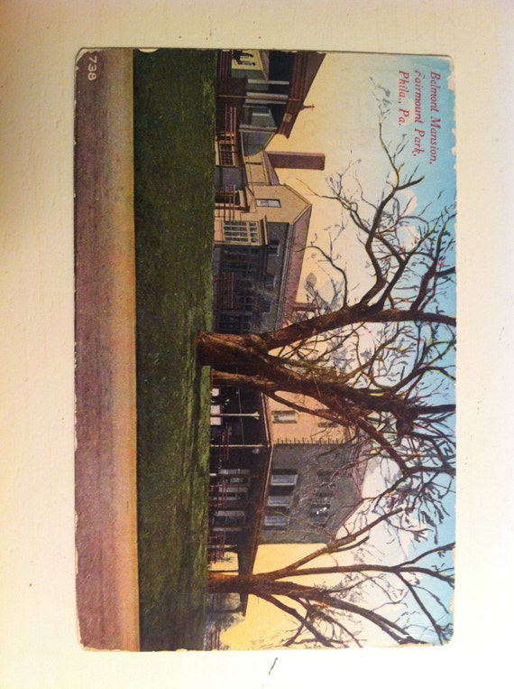 Pa Postcard Fairmount Park Philadelphia Pa Belmont Mansion