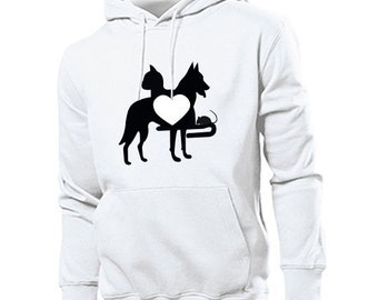 Hoodie 'heart for animals'