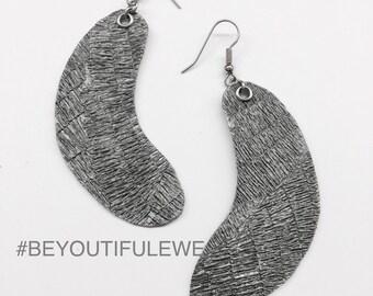 Vegan Leather Pod Earrings