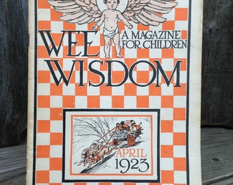 """3 Issues of Vintage """"Wee Wisdom"""" Magazines from 1923-1926"""