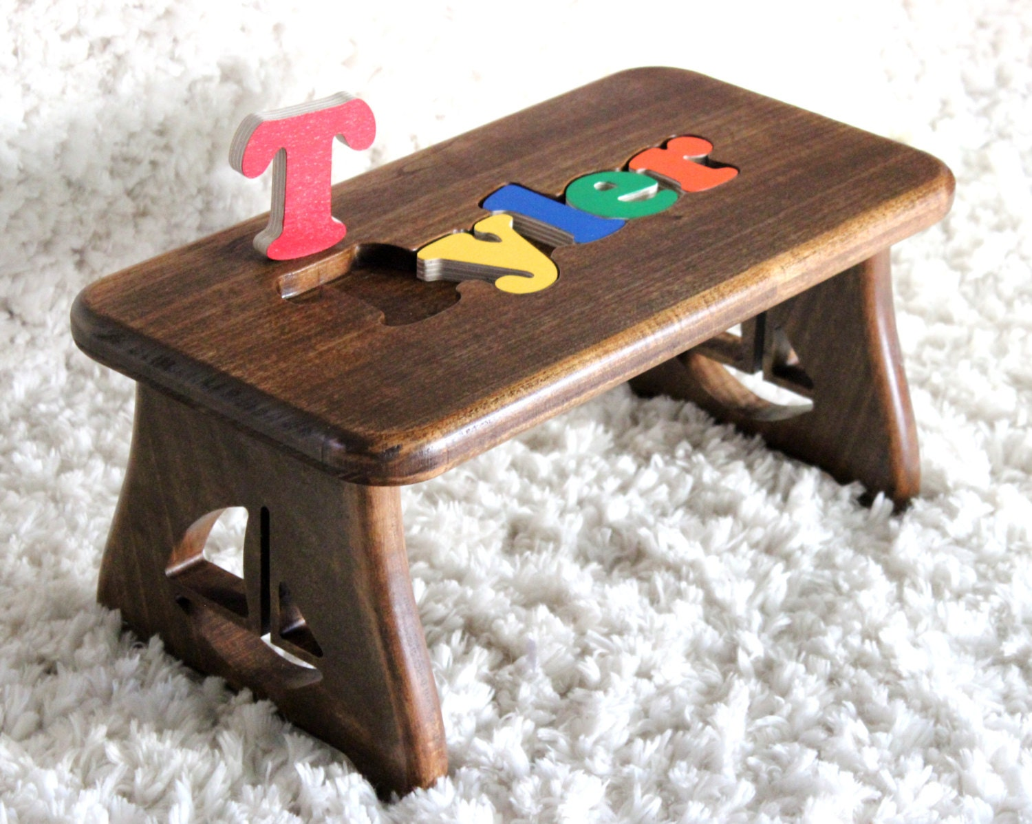 Personalized Puzzle Bench Nautical Nursery Toddler Step